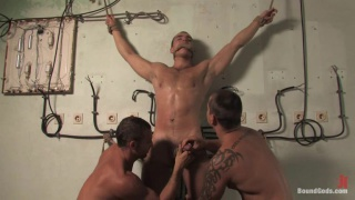 Hot hunk gets bound