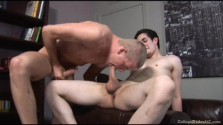 Jeremy and Gage have oral fun