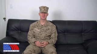 Uniformed Marine Beats Off