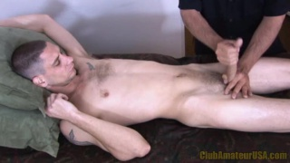 Straight Dude Massaged and Stroked