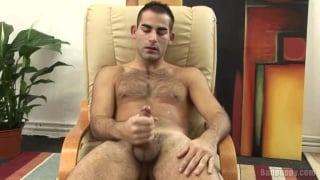 Hairy Dude's Cock Work Out