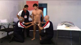 Diver Stripped by Coaches
