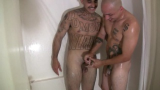 Tattooed Latinos Fuck Raw