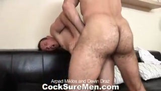 Hairy Bear's Big Uncut Cock