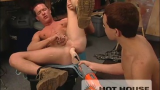 Getting fisted and fucked by machine