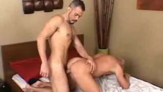 Blond guy fucked bareback