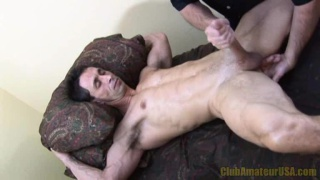 Ugly Ripped Guy's Hand Job