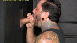 Tattooed Man at  Glory Hole