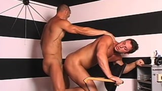 Horny barber gets fucked in the ass