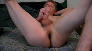 Blond College Dude's First JO Vid