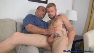 Straight Guy Sits on Daddy's Lap