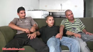 Three Latin Cocks on a Couch