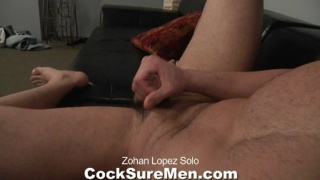Zohan plays with his cock