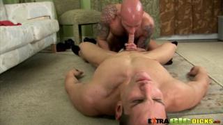 Bald Stud Rides Huge Cock