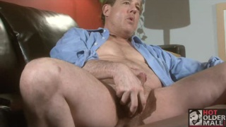 Straight Dad Jerking Cock