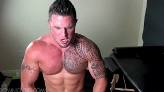 Tattooed Muscle Hunk Cum