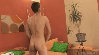 Euro Boy Jerking his Cock