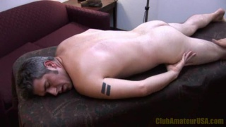 Beefy Guy Fingered on Massage Table