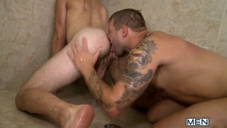 Tommy Defendi and Colby Jensen in Shower