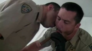 Cops smoking and fucking in uniform