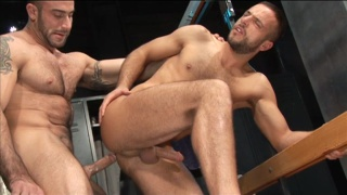 Spencer Reed Drilling Hairy Stud's Ass