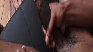 Black Stud Stroking his Chewy Cock