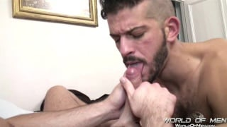 Brice Farmer Playing with a Hot Spanish Cock