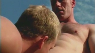 Sexy Hunks in Threesome Sex