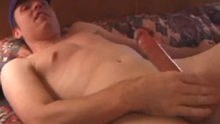 Skinny Guy Jacks Big Thick Cock