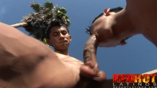Latin Studs Fucking Around Outdoors