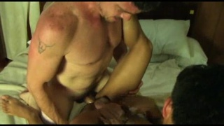 Daddy fucks an asian boy