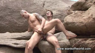 Ripped Studs Beach Fucking