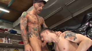 Inked Top Servicing in Garage