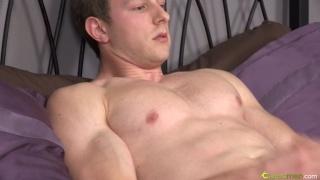 Masturbating Hung Blond Ripped Guy