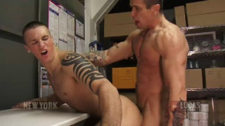 Trenton Ducati and Brice Banyan Fuck in Store Room
