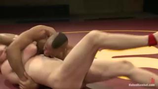Nude Wrestlers Troy Sparks and Sebastian Keys