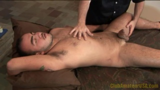 Beating Off a Beefy Stud