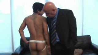 Boy in Jockstrap & His Suited Daddy