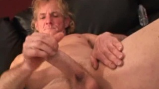 Blond Redneck Jacking & Hole Fingering