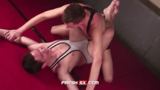 Wrestlers Fuck on the Mats