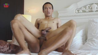 Asian Bottom Sits on Raw Dick