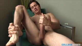 College Guys Jerking his Thick Meat Stick