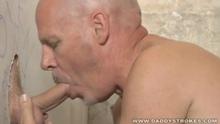 Bald Glory Hole Cocksucker