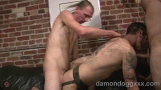 Damon Dogg Takes Two Cocks