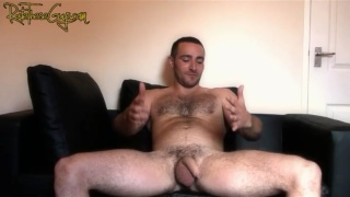 Hairy Uncut Guy Shows Us How He Fucks