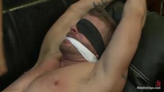 Jeremy Stevens Blindfolded & Cock Edged