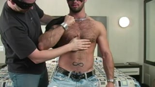Muscular and hairy stud worshipped