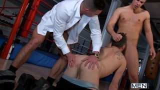 Paddy O'Brian & Paul Walker Spit Roasting Riley Tess
