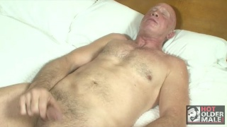60-Year-Old Man Jacking Off
