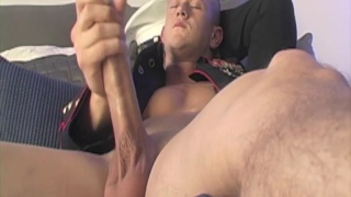 Marine Jacks his Huge Cock
